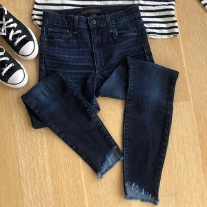 Joe's Jeans High Rise Skinny Ankle with frayed hem